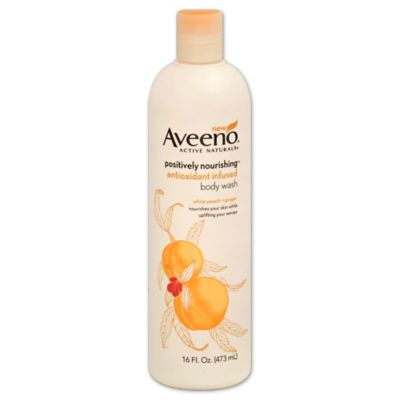 Aveeno Positively Nourishing® 16 oz. Antioxidant Infused Body Wash in White Peach and Ginger