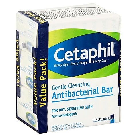 Cetaphil 174 3 Count 4 5 Oz Gentle Cleansing Antibacterial