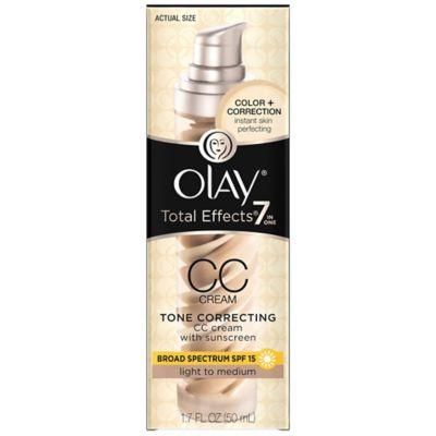 Olay® CC Cream 1.7 oz. Total Effects Tone Correcting Moisturizer SPF 15 in Light-to-Medium