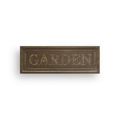"Metal ""Garden"" Plaque"