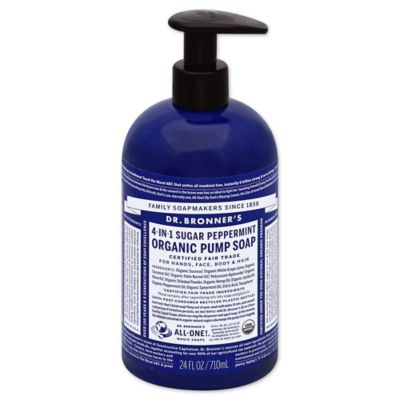 Dr. Bronners 12 oz. 4-in-1 Sugar Peppermint Organic Pump Soap