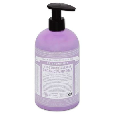 Dr. Bronners 12 oz. 4-in-1 Sugar Lavender Organic Pump Soap