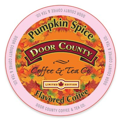 12-Count Door County Coffee & Tea Co. Pumpkin Spice Coffee for Single Serve Coffee Makers