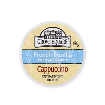 24-Count Grove Square™ French Vanilla Cappuccino for Single Serve Coffee Makers