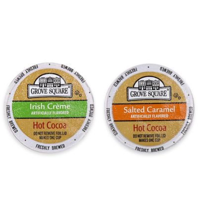 24-Count Grove Square™ Salted Caramel and Irish Crème Hot Cocoa for Single Serve Coffee Makers