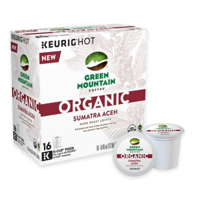 Keurig® K-Cup® Pack 16-Count Green Mountain Coffee® Organic Sumatra Aceh Coffee