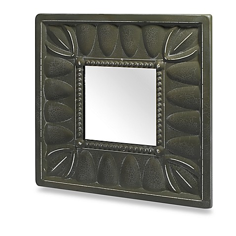 Fancy Green Square Mirror