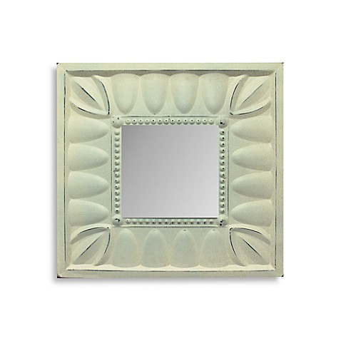Fancy White Square Mirror