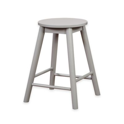 Linon Home Denville Backless Counter Stool in Yellow