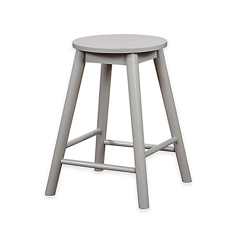 buy denville 24 inch backless counter stool in grey from bed bath beyond. Black Bedroom Furniture Sets. Home Design Ideas