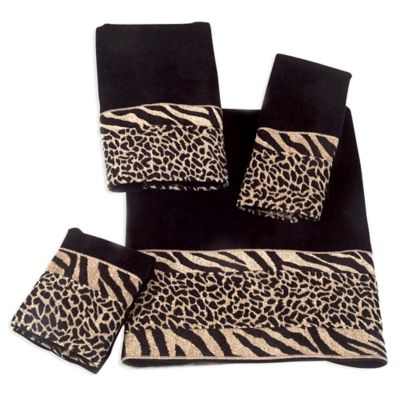 Black Fingertip Towels