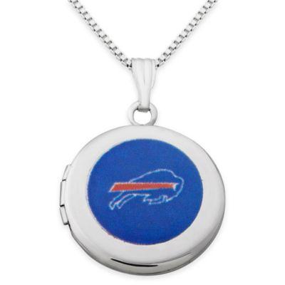 NFL Buffalo Bills Sterling Silver 18-Inch Chain 16mm Round Team Logo Locket Necklace