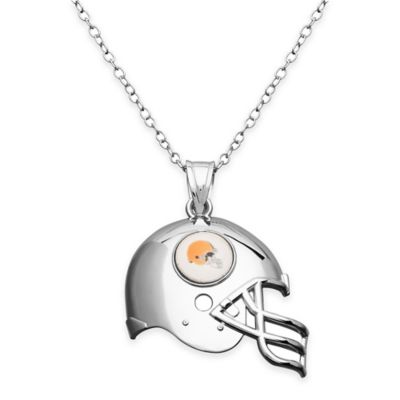 NFL Cleveland Browns Sterling Silver 18-Inch Chain Helmet Pendant Necklace