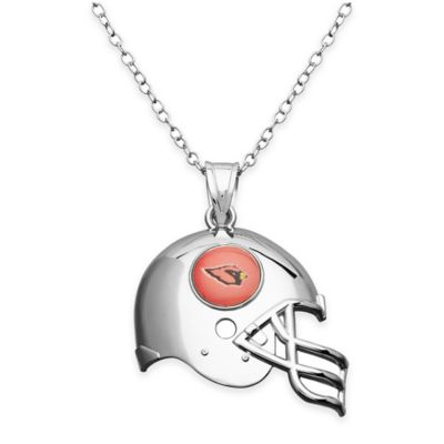NFL Arizona Cardinals Sterling Silver 18-Inch Chain Helmet Pendant Necklace