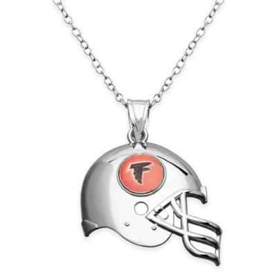 NFL Atlanta Falcons Sterling Silver 18-Inch Chain Helmet Pendant Necklace