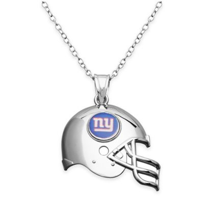 NFL New York Giants Sterling Silver 18-Inch Chain Helmet Pendant Necklace