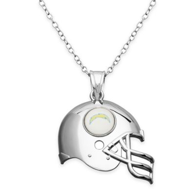 NFL San Diego Chargers Sterling Silver 18-Inch Chain Helmet Pendant Necklace