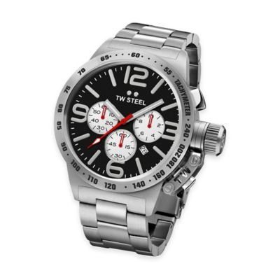 TW Steel Unisex 50mm Chronograph Watch in Stainless Steel