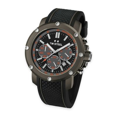 TW Steel Men's 48mm Grandeur Tech Chronograph Watch in Titanium-Coated Stainless Steel w/Black Dial
