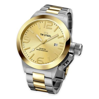 Two-Tone Stainless Steel with Goldtone Dial