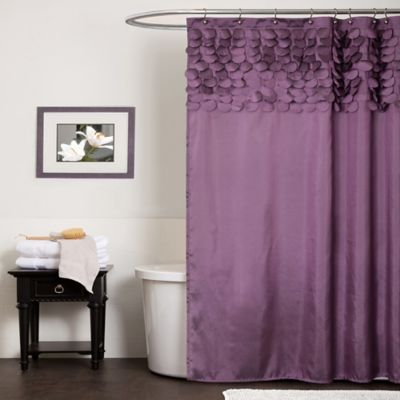 Lillian Shower Curtain in Red