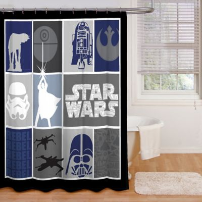 Star Wars™ Microfiber Shower Curtain