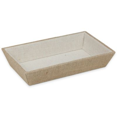 Canvas Storage Burlap Guest Towel Tray