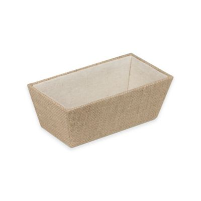 Canvas Storage Burlap Catch All Tray