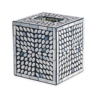 India Ink™ Snake Skin Mosaic Boutique Tissue Box Cover