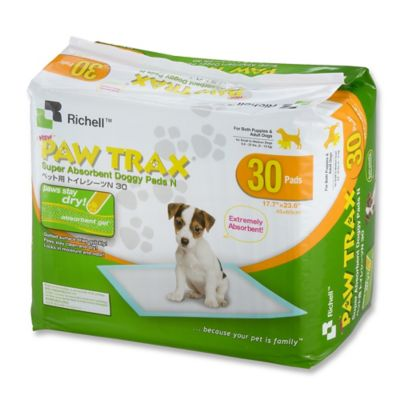 Paw Trax® 30-Pack Doggy Training Pads in White