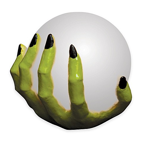 Witch S Hand With Color Changing Crystal Ball Bed Bath