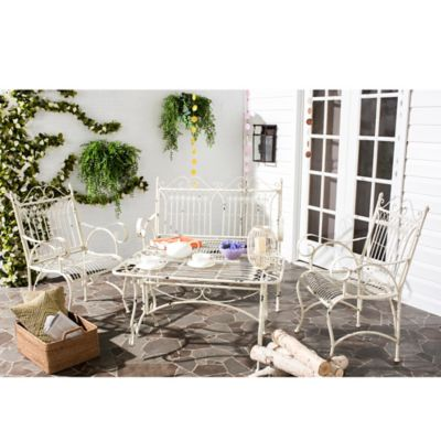 Safavieh Leah 4-Piece Antique Outdoor Set in Brown