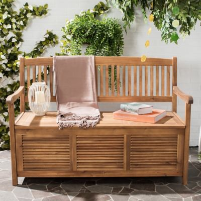 Safavieh Brisbane Bench in Teak Brown