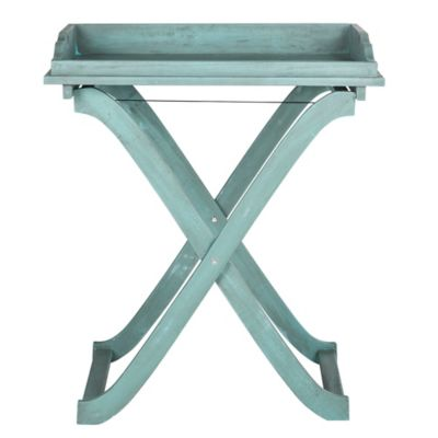 Safavieh Covina Tray Table in Blue
