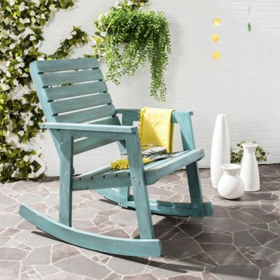 Safavieh Alexei Rocking Chair in Beach House Blue