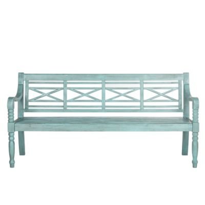 Safavieh Karoo Bench in Beach House Blue