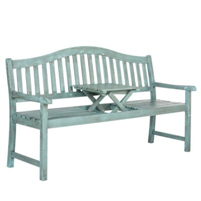 Safavieh Mischa Bench in Beach House Blue