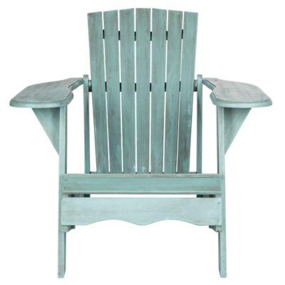 Safavieh Mopani Acacia Wood Chair in Blue