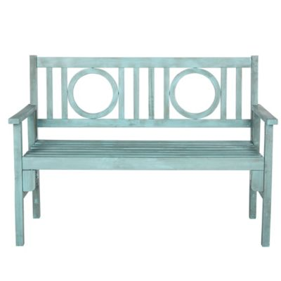 Safavieh Piedmont Bench in Beach House Blue