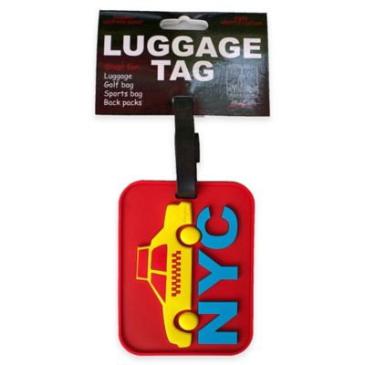 New York Taxi Cab 3-D Luggage Tag in Red