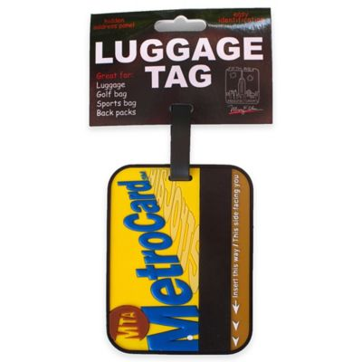 New York Official MTA Metro Card 3-D Luggage Tag in Yellow