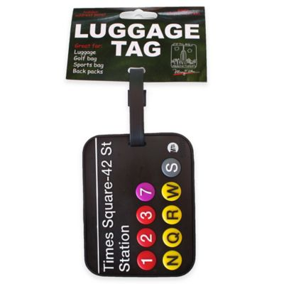 New York Official MTA Subway 3-D Luggage Tag in Black