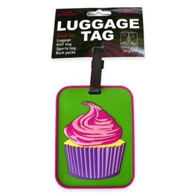 My Bag Cupcake 3-D Luggage Tag in Green