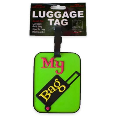 My Bag Suitcase 3-D Luggage Tag in Green