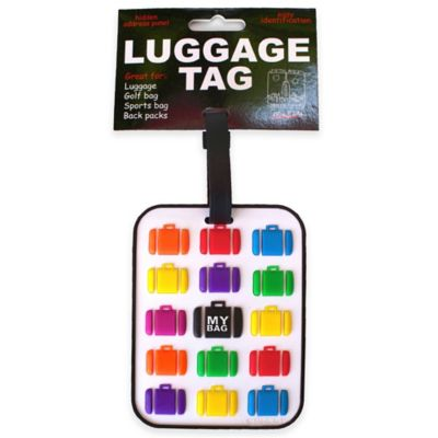 My Bag 3-D Luggage Tag in White