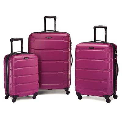 Samsonite® Omni 3-Piece 4-Wheel Expandable Spinner Set in Pink