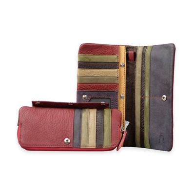 Annette Ferber Journey Collection Barcelona Wallet in Burgundy