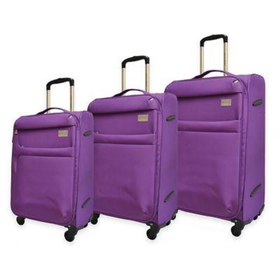 Adrienne Vittadini 3-Piece Nylon Luggage Set in Black