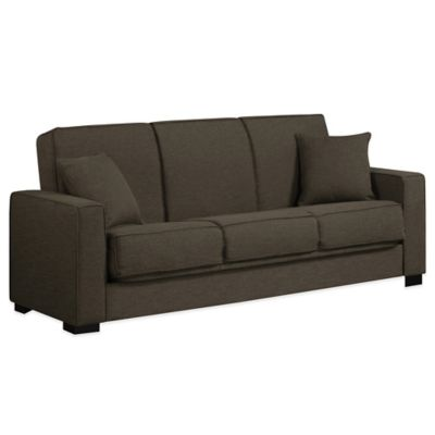 Handy Living Malibu Convert-a-Couch in Smoky Charcoal Grey