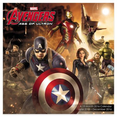 Marvel Avengers 19-Month 2016 Wall Calendar